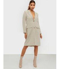 nly trend long line linen coat kappor
