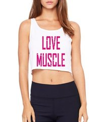 top cropped criativa urbana love muscle