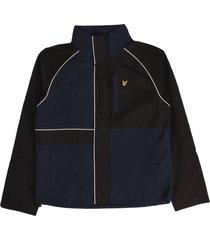 contrast panel lightweight jacket