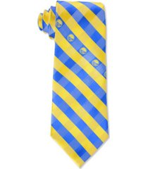 eagles wings golden state warriors checked tie