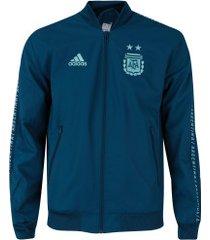 jaqueta argentina hino adidas - masculina - azul escuro