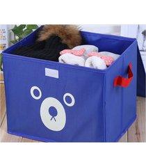 espesar soportar impresión de tela oxford caja de almacenamiento de juguete azul organizador de almacenaje de ropa