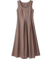 linnen jurk, gestippeld 42