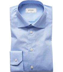 eton overhemd blue pied de poule slim