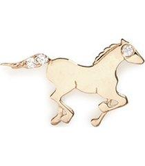 18k yellow gold diamond chinese new year charm - horse
