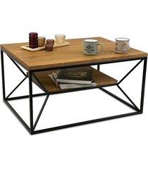 stolik kawowy drewniany z półką dębowy 80 cm