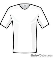 shirtsofcotton t-shirt wit basic v-hals 2-pack