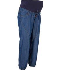 pantaloni prémaman cropped in tencel™ lyocell (blu) - bpc bonprix collection