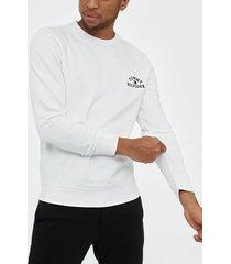tommy hilfiger basic embroidered sweatshirt tröjor white