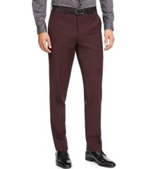 bar iii men's slim-fit active stretch solid suit pants, created for macy's