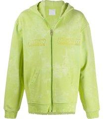 alchemist tie-dye studded hoodie - green