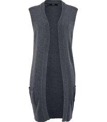 gilet lungo in maglia (grigio) - bpc bonprix collection