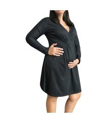 camisola manga longa maternidade preta linda gestante