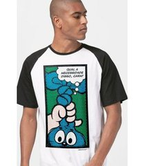 camiseta bandup! raglan turma da mônica ícones pop art masculina