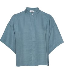 tammy shirt overhemd met korte mouwen blauw filippa k