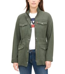 levi's mock-neck utility jacket