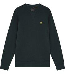 lyle and scott ml424vog lyle&scott crew neck sweatshirt, w486 dark green