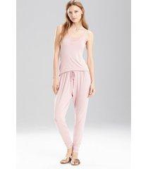 undercover slim pants pajamas, women's, red, size xl, josie natori