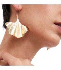orecchini di goccia dell'orecchio d'avanguardia argento oro foglie di albicocca piante orecchini gancio orecchio gioielli per le donne