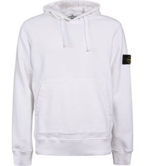 stone island logo sleeve zip hoodie