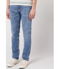 nudie jeans men's lean dean jeans - lost orange - w36/l32