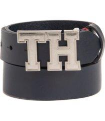 tommy hilfiger big boys casual belt with th design buckle