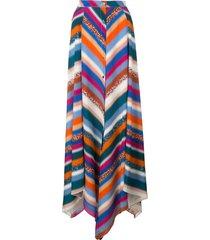 altuzarra aquarius striped skirt - multicolour