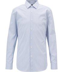 boss men's slim fit cotton poplin shirt