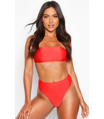 mix & match bandeau bikini top, red
