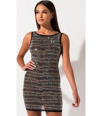 akira new basic low back studded dress