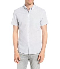 men's bonobos riviera slim fit print shirt, size small r - white