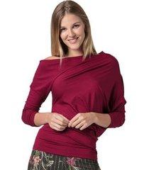 blusa amazonia vital longa assimétrica lisa feminina