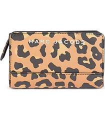 leopard-print compact wallet