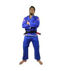 kimono jiu jitsu keiko slim fit - azul