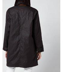 barbour x alexa chung women's rowan wax jacket - rustic/ancient - uk 14
