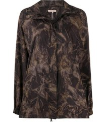 filippa k soft sport raven tie-dye track jacket - brown