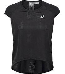 future tokyo ventilate ss top t-shirts & tops short-sleeved svart asics