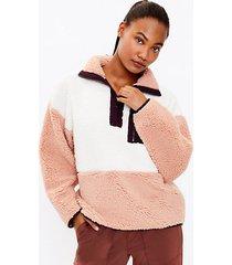 loft lou & grey colorblock cozy up zip sweatshirt