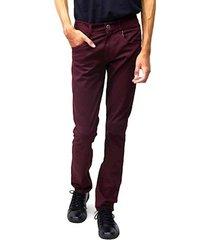 calça jeans masculina sandro clothing vinho