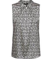 3174 satin - prosi top blouse mouwloos zwart sand