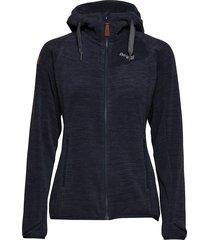 hareid fleece w jkt hoodie trui blauw bergans