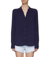 'nina' v-neck button-down shirt
