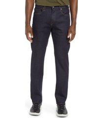 men's kato straight fit stretch selvedge jeans, size 34 - blue