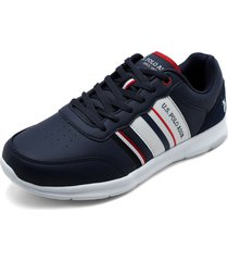 tenis azul navy-blanco-rojo us polo assn