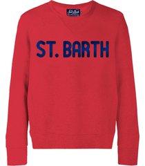 mc2 saint barth saint barth red sweatshirt