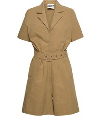 cenia playsuit jumpsuit beige just female
