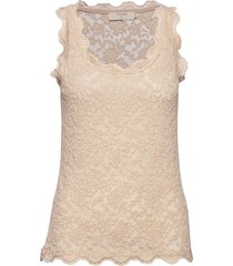 brendacr lace top t-shirts & tops sleeveless beige cream