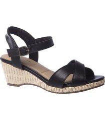 sandália couro anabela 613 doctor shoes feminina