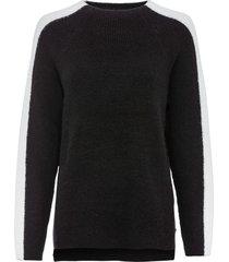 maglione oversize con bande (nero) - rainbow