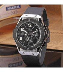reloj mecánico/cuero/jaragar relojes mecánicos-negro